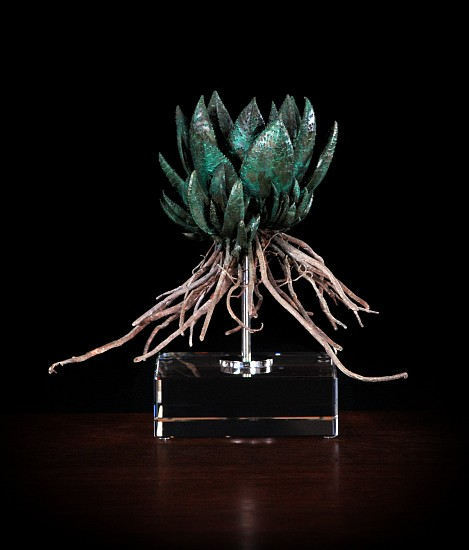 NIC BLADEN, GASTERIA 2019, BRONZE AND STERLING SILVER